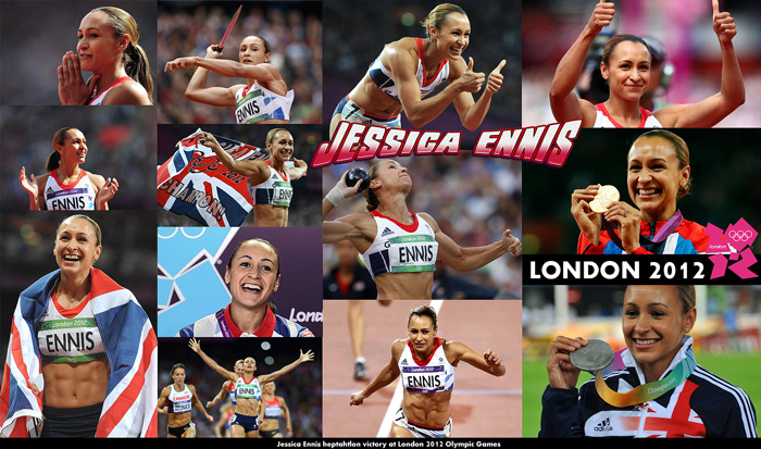 Jessica Ennis heptahtlon victory at London 2012 Olympic Games