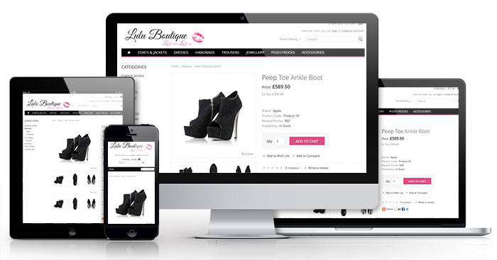 Retail website design